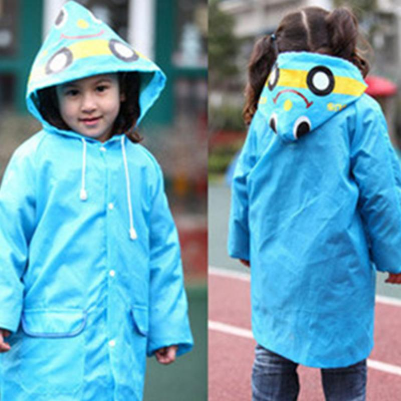 Candy Color Polyester Kids Raincoat Cartoon Children Rain Wear Waterproof Rain Suit(China (Mainland))