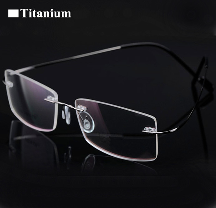 8 colors rimless non-screw memory titanium flexible eyeglasses glasses prescription spectacle optical frame(China (Mainland))