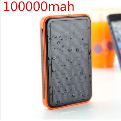 2015 New 100000mah Waterproof solar power bank bateria externa solar charger powerbank for all mobile phone Fast shipping(China (Mainland))