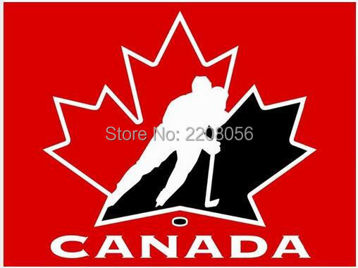 NHL Team Canada Hockey flag 3ftx5ft Banner 100D Polyester Flag metal Grommets(China (Mainland))