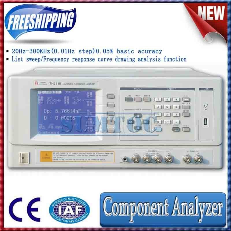 Free shipping! 2012 new! 0.05% accuracy , 20-300kHz, auto component analyzer TH2818(China (Mainland))