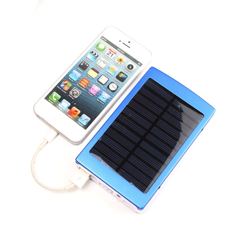 Portable solar power bank 8000mAh Backup Battery Solar charger External Battery for iphone With phone outdoor Emergency charger(China (Mainland))