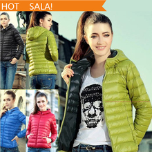 New 2014 Fashion Parkas Winter Female Down Jacket Women Clothing Winter Coat Color Overcoat Women Jacket Parka(China (Mainland))