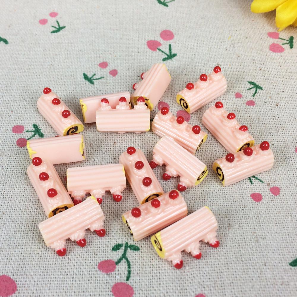 10Pieces Flat Back Resin Cabochon Miniature Food Kawaii DIY Flat Back Embellishment Accessories Scrapbooking Craft Making 8*18mm(China (Mainland))