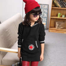 Sweat fillette Kids clothes Hood fleece kids Girls Winter sweatshirts Children Hooded warm tops Moleton menina thicken clothing(China (Mainland))