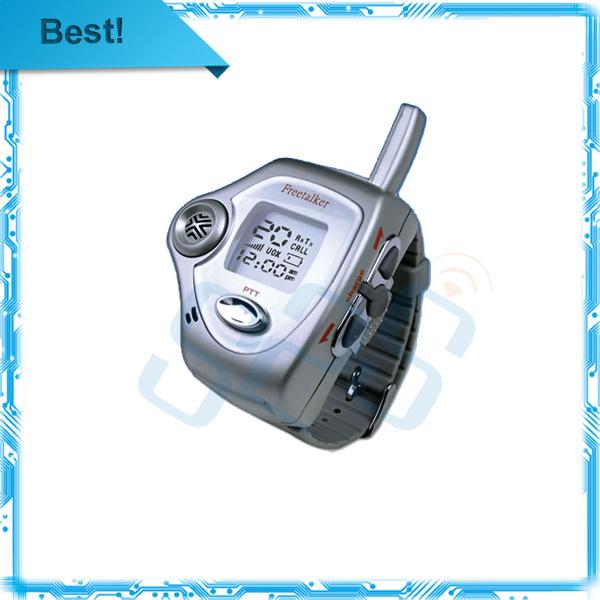 2pcs/lot Brand New silver wrist watch walkie talkie two way radio talkie walkie Free Talker RD-820 free shipping(China (Mainland))