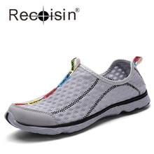 Plus Size Men Women Summer Mesh Shoes Slip On Cool Beach Walking Shoe Aqua Water Wading Shoes Breathable Men Shoes Zapatos M8521(China (Mainland))