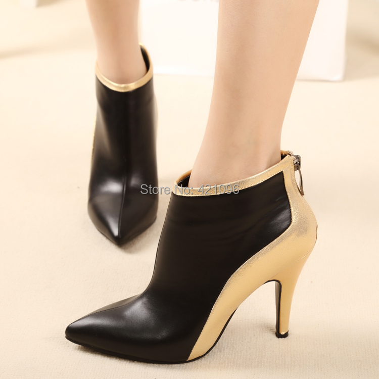 pointed toe high heeled boots martin boots ankle