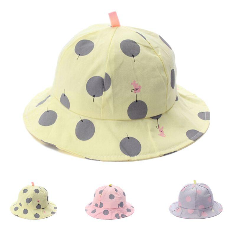 Travel Outside Children Hot Sale Bucket Hats Baby Girl Spring Summer Autumn Beach Sunbonnet Dome Buckets Caps Cute Cap Hat(China (Mainland))