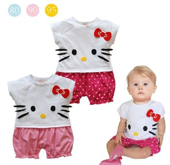 Free shipping ! Hot sale ! Summer baby romper bodysuit bow child romper short-sleeve newborn clothes