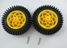 Envío gratis 1 par 78 mm rueda de la llama con choques Tt motores, Rc ruedas de coche para arduino, ruedas accesorios para coche Robot