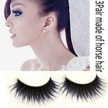 Sexy 3D Horse Hair Blue Black Cotton Stalk Thick Long False Mink Eyelashes Fake Eye Lashes Eyelash Top Quality(China (Mainland))