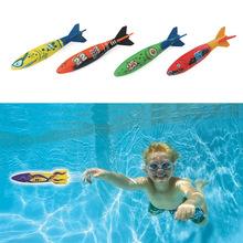 4PC Underwater Torpedo Rocket Swimming Pool Toy Swim Dive Sticks Holiday Games