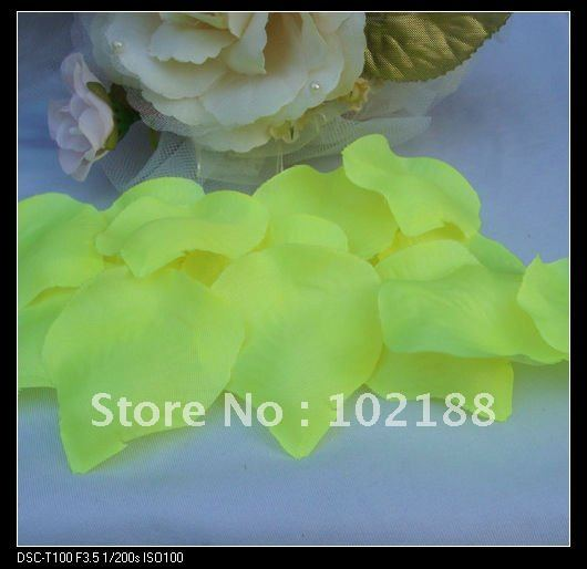 1kg(7500pcs) Glassy Yellow Silk Rose Petals Wedding Party Flower Favors - Ningguo Stylish Convertible Gift Packaging Plant store