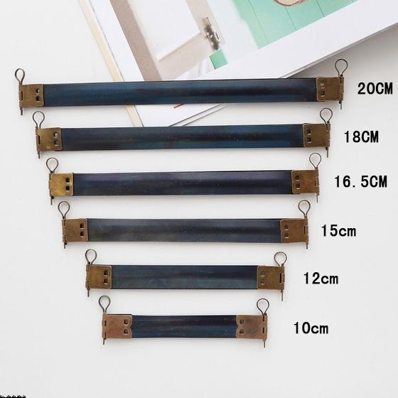 KISSSDIY 30PCS 10 / 12 / 15 / 16.5 / 18 / 20CM Metal Internal Flex purse Frame with Loops,Accessories Bag Flex Spring Clasp(China (Mainland))