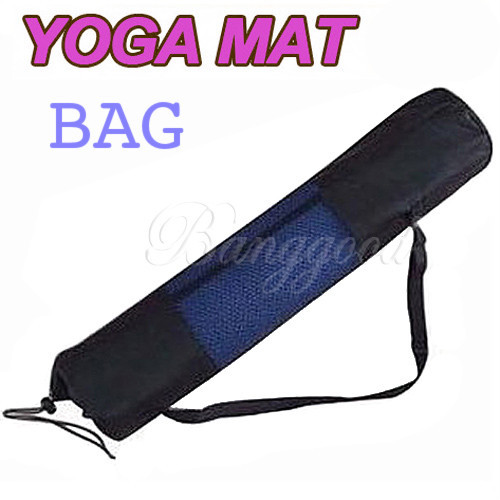 Hot Sale Portable Yoga Mat Carrier Bag Workout Fitness Exercise For Pilates Home/Gym Nylon Mesh Black Free Shipping Wholesale(China (Mainland))