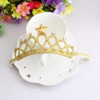 New Arrival Glittering Crown Baby Headband Girls Hair Band New Head Wrape Infant Hair Accessories Princess Tiara Headband