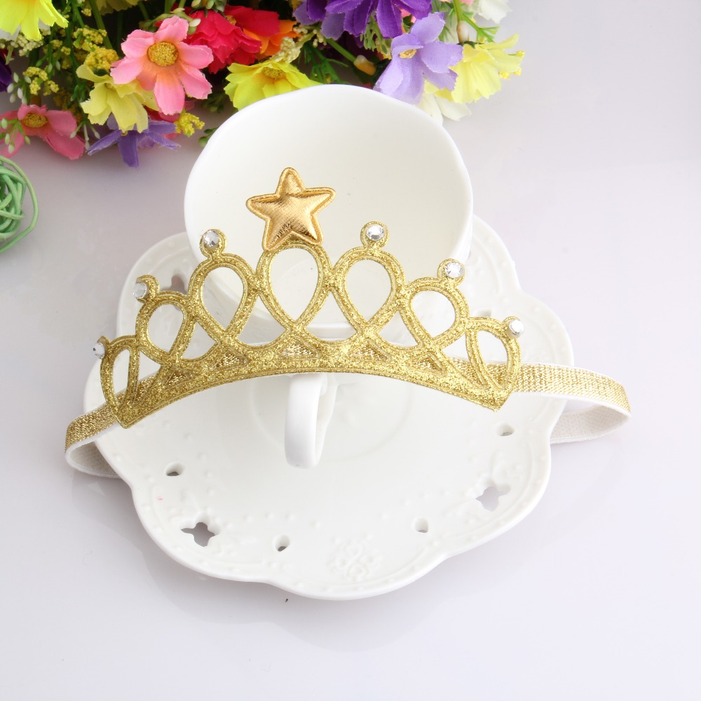 New Arrival Glittering Crown Baby Headband Girls Hair Band New Head Wrape Infant Hair Accessories Princess Tiara Headband(China (Mainland))