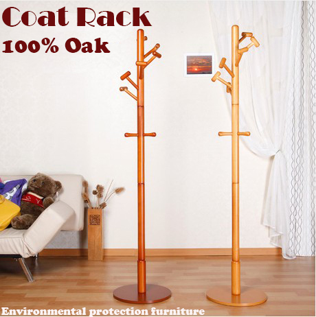 2014 Hot sale!Fancy Hat Coat Rack Hanger Entry Hall Way Stand ,looks tree with hat rack,100% Oak,wood coat racks,multi-hooks(China (Mainland))