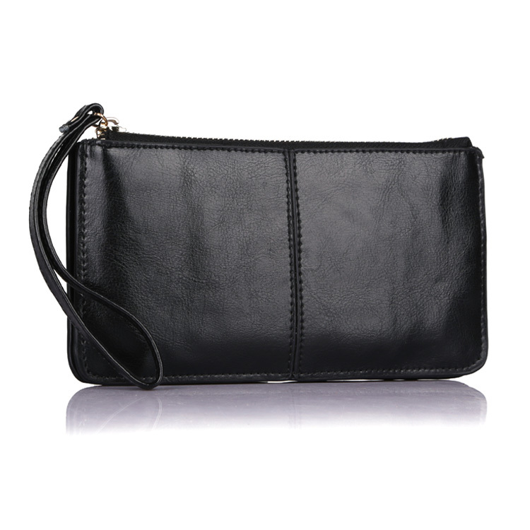 2016 New Designer Fashion Oil Wax Cowhide Women Wallet Genuine Leather Womens Korean Zipper Purse Large Capacity Day Clutch 1366 - China YoMe Bags Co., Ltd. store