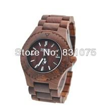Moda de madera hombres mujeres amante de pulsera calendario favorable al medio ambiente Natural de madera del reloj del nuevo diseño Janpanese movimiento