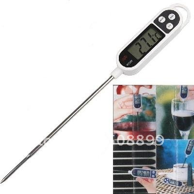 2013 LCD Display Food Thermometer with Reading Holder for Cooking Food Probe Meat Free Shipping 10pcs/lot