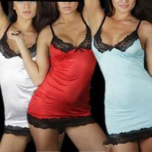 Sexy Underwear Mulheres Lady Lingerie Pijamas Vestido de renda Nightwear G-string LH