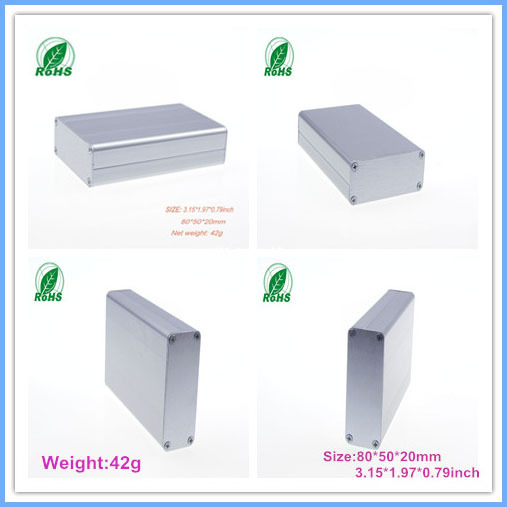 Aluminum enclosure housing electronics aluminum project boxes 80*50*20mm 3.15*1.97*0.79inch - Shenzhen Futian District Xinda Electronics Sale Department store