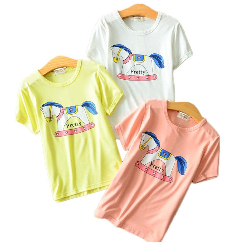 Free Shipping Children Boys Summer T Shirt Hobbyhorse Baby Girls' Short Sleeve Tops Tee Shirts Kids 100% Cotton Casual Jersey