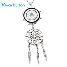 P00744  Wholesale Mix Necklace Female's Sweater Fit 18mm Rivca Snap Button Retro Pendant Necklace Accessory Gifts Snap Jewelry(China (Mainland))