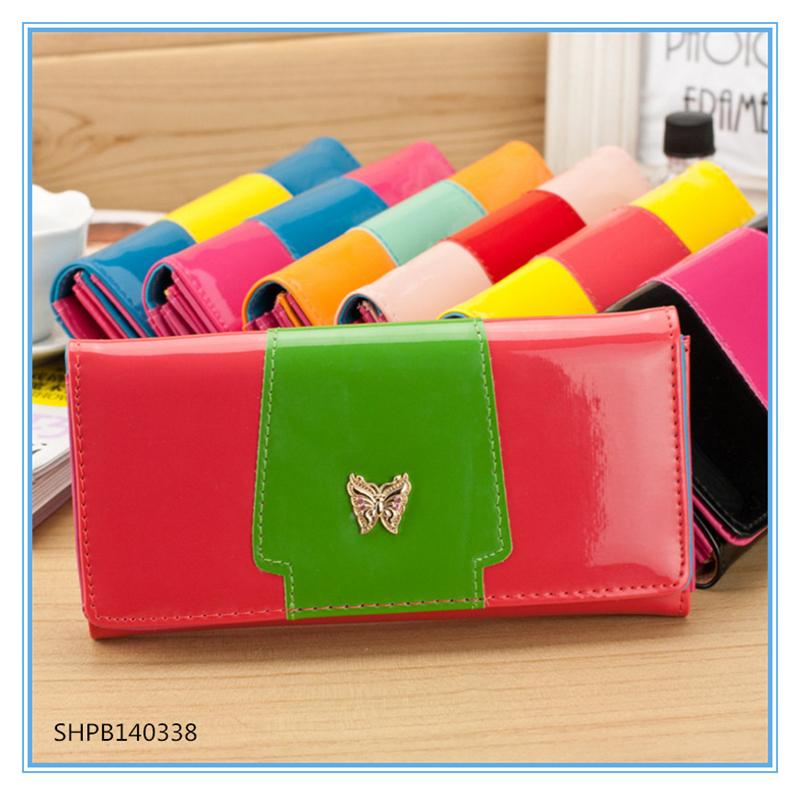 Fashion women leather handbags cheap women messenger bags trendy women clutch---dropshipping wallet skype:hnkfliu(China (Mainland))