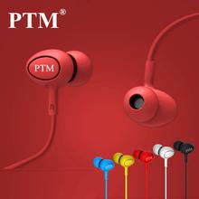 PTM En oído Con Cancelación de Ruido Auriculares de oído Portable Del Deporte Del Auricular Bass Hifi Auriculares con micrófono para el Teléfono iphone MP3