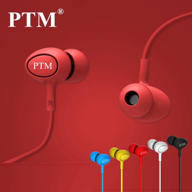 PTM In ear Noise Canceling font b Earphone b font Headphone Portable Sport Headset Bass Hifi