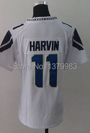 Seattle Womens 11 Percy Harvin Jersey Blue Drift Grey Green Drift White stitched Rugby Percy Harvin jersey Embroidery logos(China (Mainland))