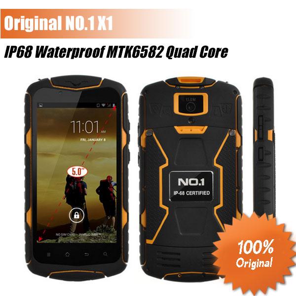 New Original NO.1 X1 IP68 MTK6582 Quad Core1GB RAM 8GB ROM 3300mAh Water proof Shock proof phone/Maksim(China (Mainland))