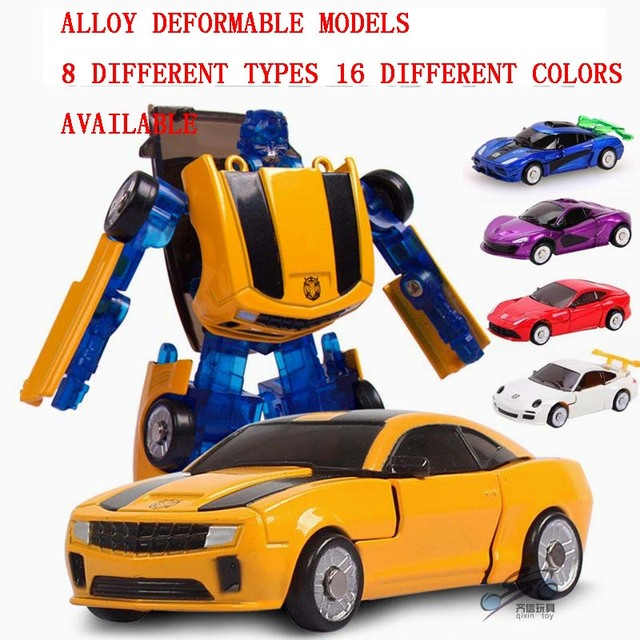 9cm Baby toys 8 type available 1:32 Alloy deformation robot model diecasts toy vehicle boy Transformation  toys racing car Gift