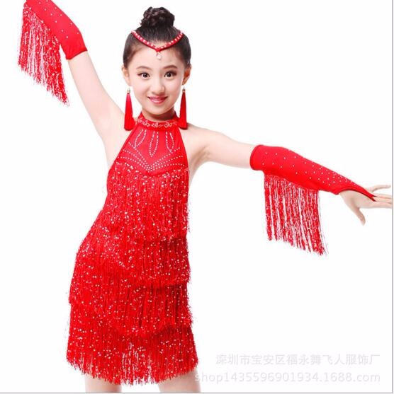DB23905 Fringe latin dance dress-6