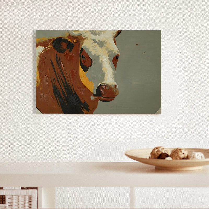 Cow oil painting for Cheap canvas paintings for sale