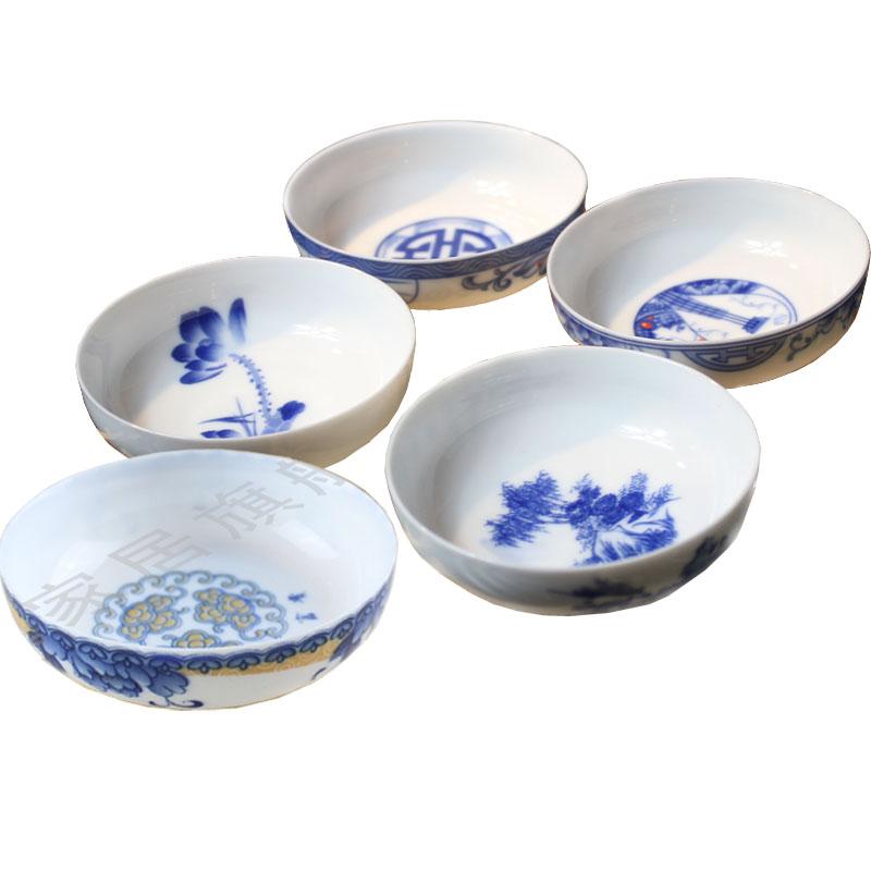 5pcs/lots tea set cicada ultra-thin blue and white tea cup kung fu cup kung fu tea cups(China (Mainland))