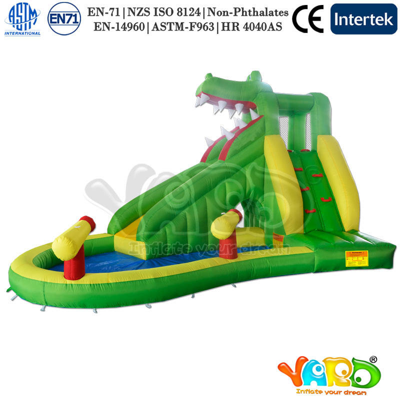 yard free shipping new arrival dinosaur inflatable water slide for kids outdoor toys for happy. Black Bedroom Furniture Sets. Home Design Ideas