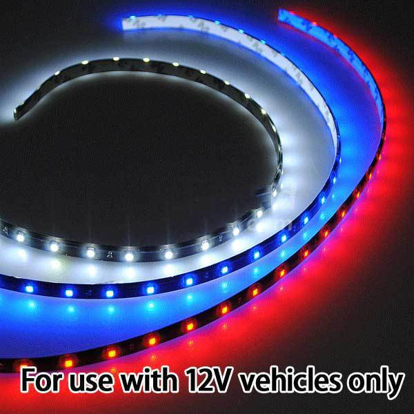 Aliderwood 60cm 30 SMD LED Flexible Neon Strip Light Car Van 12V(China (Mainland))
