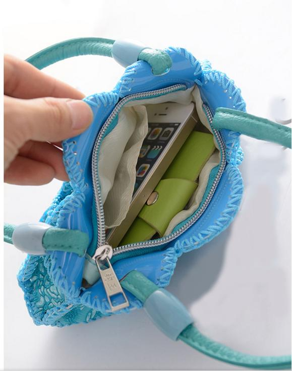 Fashion Purses And Handbag Cute Blue Embroidery Flowers Women Bag Bolsa Feminina Bolso Sacs A Main Femme Women Tote Bag For Lady(China (Mainland))