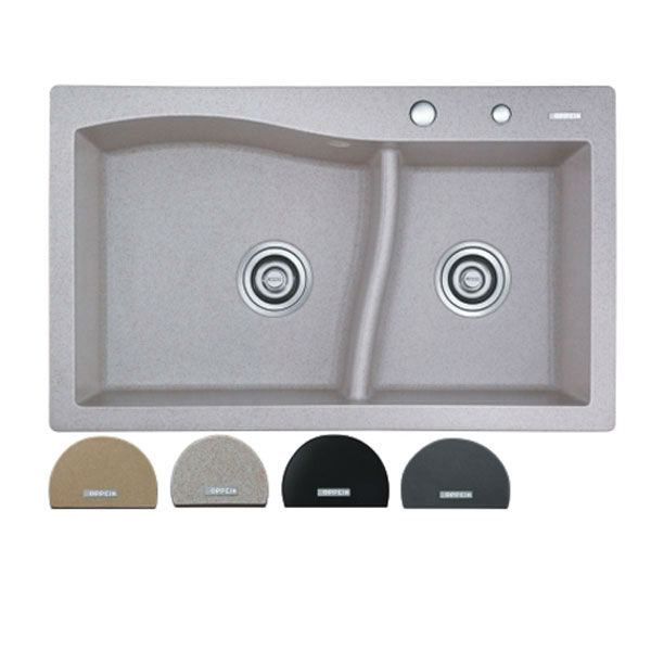 Beautiful Italian Quartz sink Matte Kitchen Sink OP-GR523(China (Mainland))