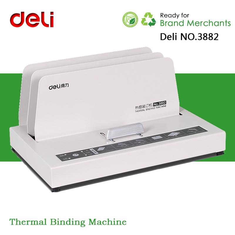 Deli NO.3882 Electronic Automatic Thermal Binding Machine With Covers Envelope Supplies For Financial Accounting Office(China (Mainland))