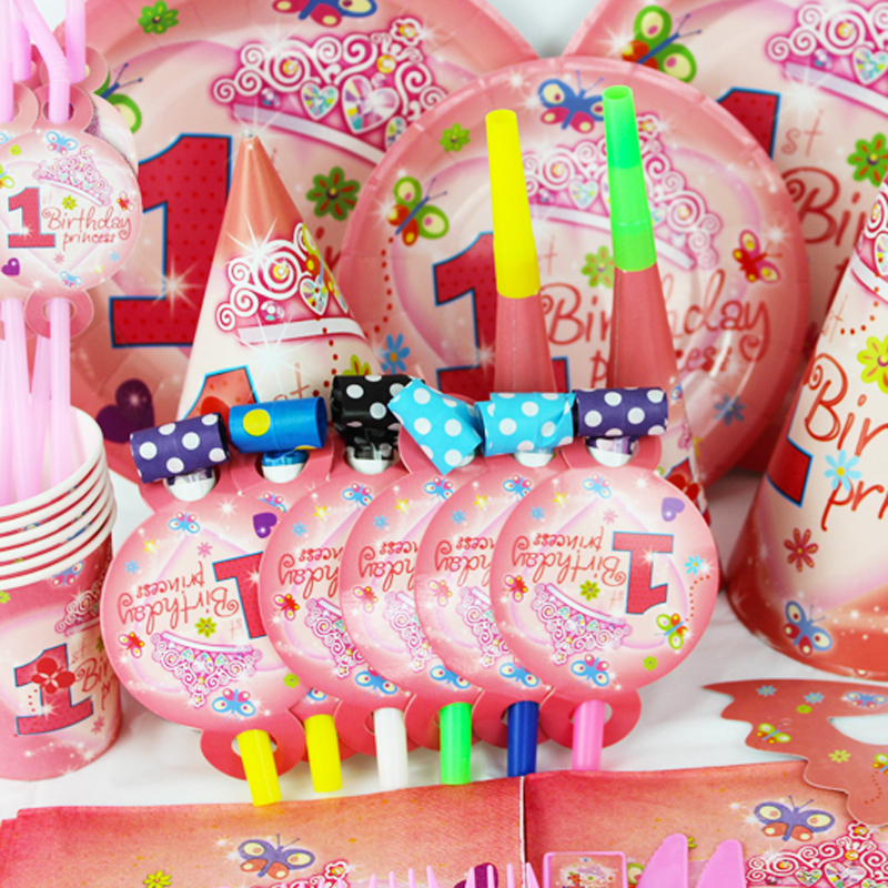 Buy 2015 new 78pcs pretty girl 1 year old for 1 year birthday decoration
