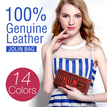 2014 New 100% Genuine leather brand women wallets ,14colors Crocodile 3D purse wholesale fashion leather wallets , Free shipping