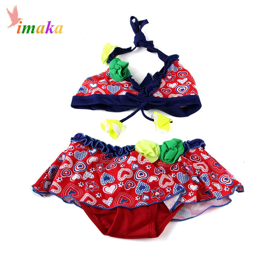 IMAKA Biquini Infantil Bikini Maios E Biquinis Cute Baby Kids Toddler Two piece Girls Swimsuit Swimwear