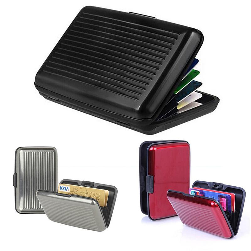 Гаджет  Waterproof Business ID Visa Credit Card Wallet Holder Aluminum Metal Pocket Case Box PY9 PY2 None Камера и Сумки
