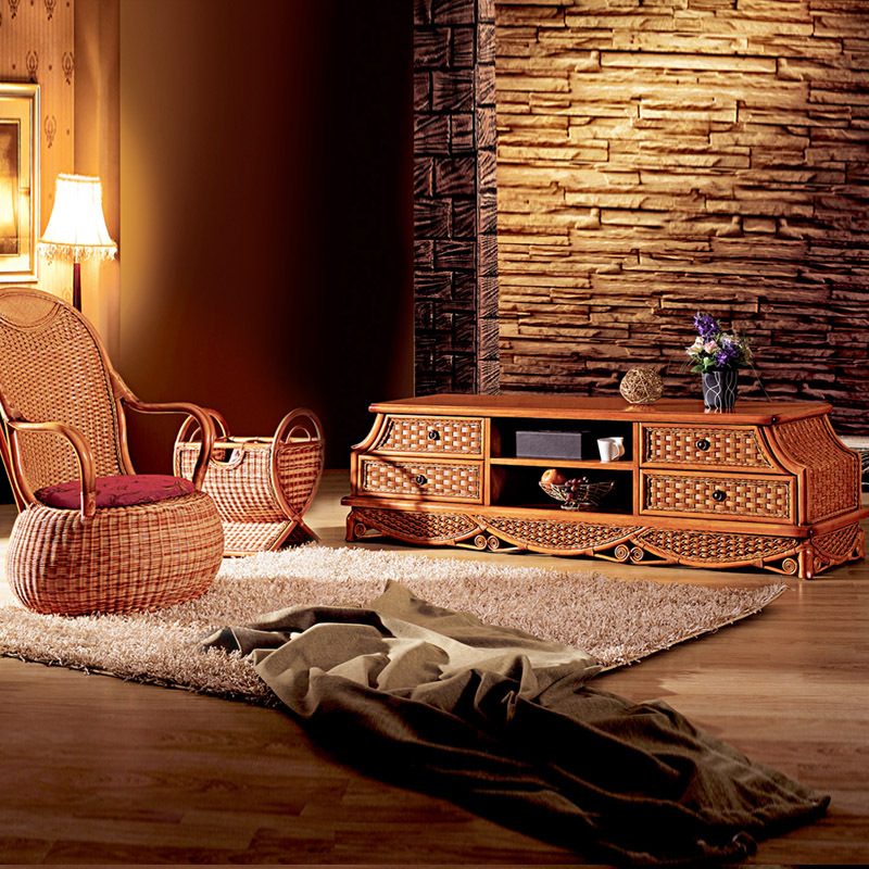 Rattan tv cabinet caneware tv cabinet audio cabinet living room cabinet g18(China (Mainland))