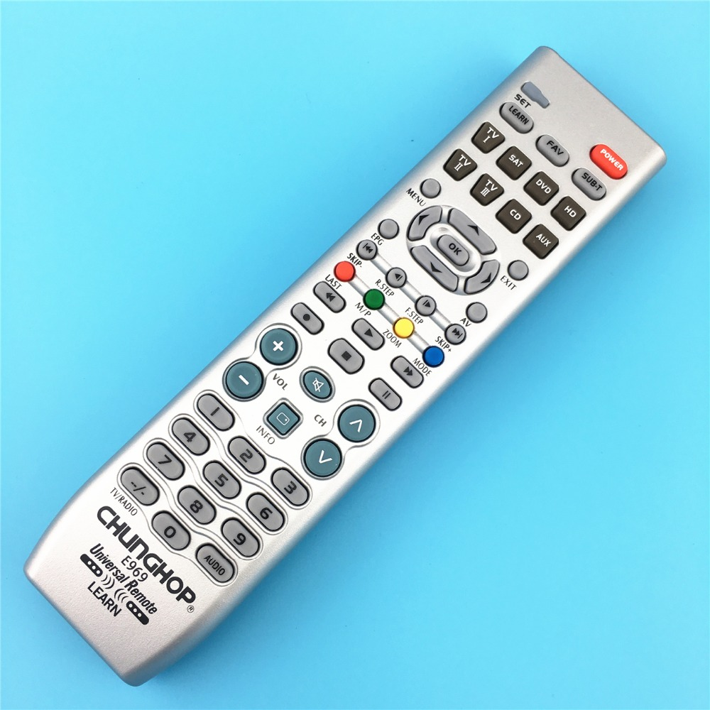 1PCS New 8in1 Smart Universal Remote Control Multifunction Controller For TV PVR VDO DVD CD SAT AUD E969(China (Mainland))